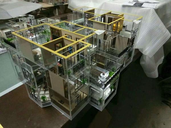 单体户型模型制作