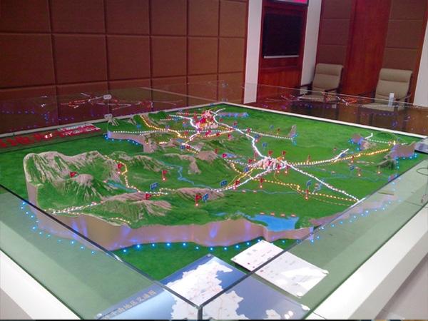 地形景区模型