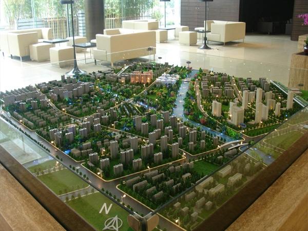 城市规划沙盘模型